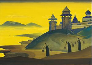 N. Roerich - And We are Trying2. From the «Sancta» Series - Google Art Project.jpg